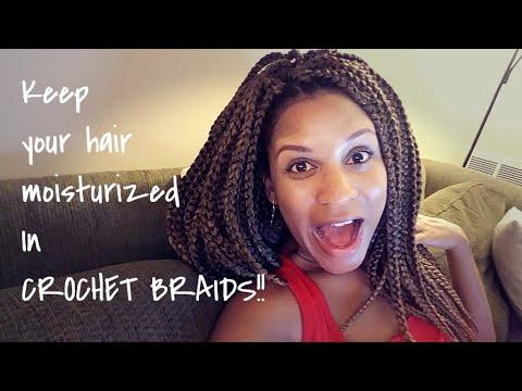 Keep your hair moisturized in crochet braids