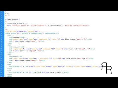 PHP tutorial (Login Form with admin and Advanced features and members accounts part4)
