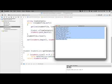 C++ Project Tutorial - File Reading, Data Parsing, Classes, etc
