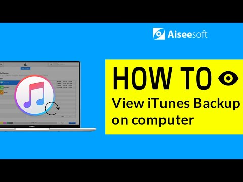 How to view iTunes backup files on computer