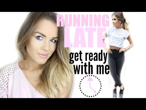 Running Late Hair, Makeup, & Outfit | Get Ready with Me