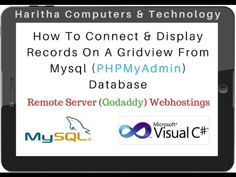 Mysql (phpmyadmin 4.5.1) connection string remote DataBase asp.net