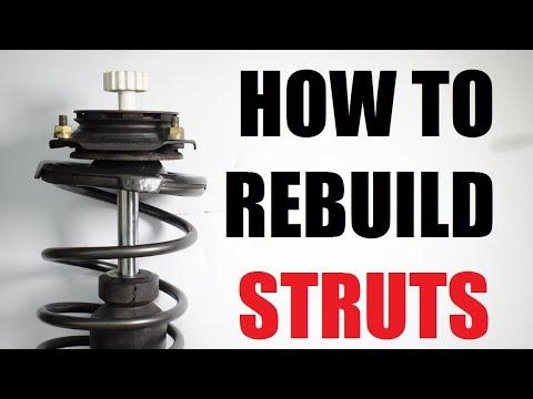 How to rebuild suspension struts (shocks)