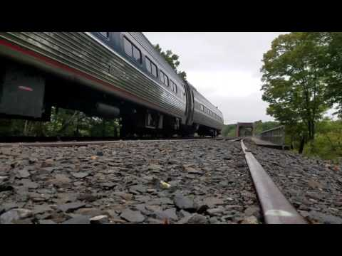 Amtrak #464 (Shuttle) Crossing the Connecticut River at Warehouse Point!!!