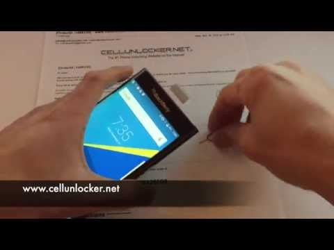 How to Unlock Blackberry Priv Network Tutorial and Guide