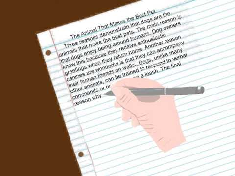 How to Write a Basic Formal Paragraph