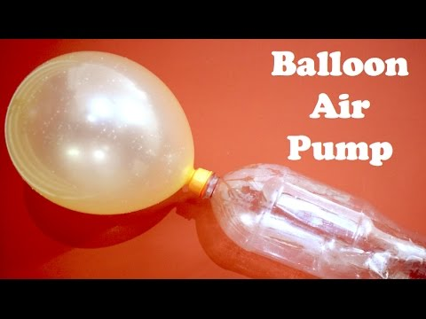 How to make Air Pump for balloon at home using BOTTLE - DIY