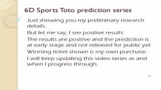 Toto 6d winner