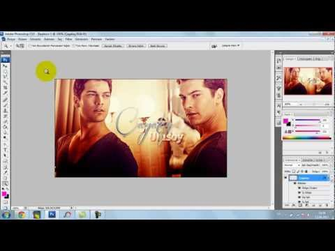 Photoshop cs3 - Çağatay Ulusoy - Designing the cover photo to facebook + Adding PSD