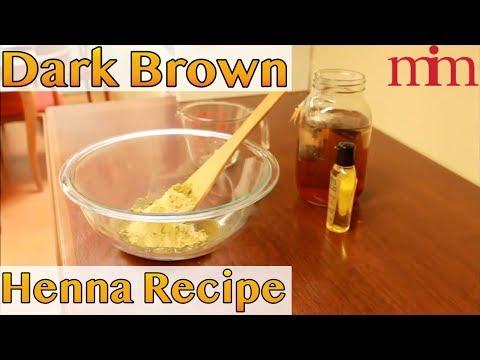 How to Make Dark Brown Henna Hair Dye