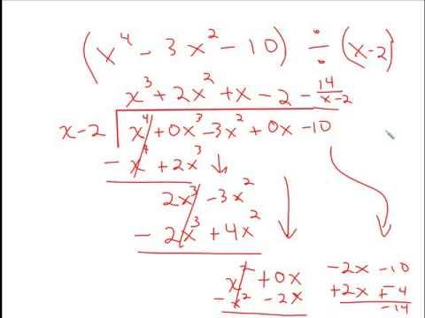 6.3  Dividing polynomials using long division and synthetic division
