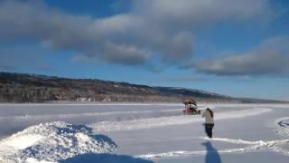 Alaska frozen lake fun