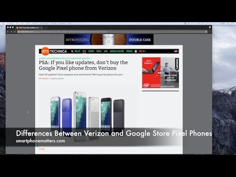 Differences Between Verizon and Google Store Pixel Phones