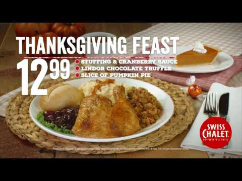 Swiss Chalet Thanksgiving Feast