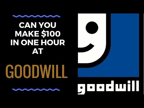 Can You Make $100 in ONE hour at Goodwill???  | GOODWILL SHOPPING TIPS