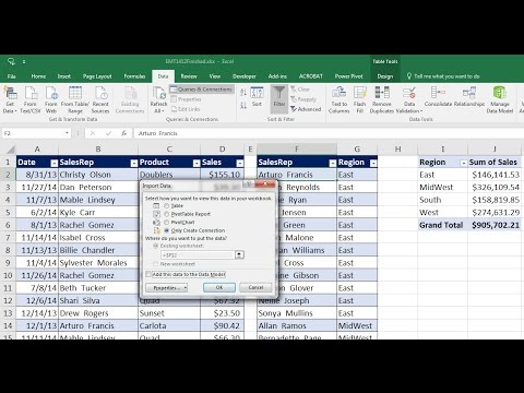 Excel Magic Trick 1412: Power Query to Merge Two Tables Into One Table for PivotTable Report