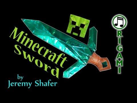 Origami Diamond Sword by Jeremy Shafer