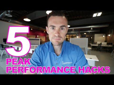 5 Peak Performance Hacks (step your game up)