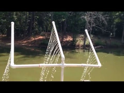 Homemade fish pond aerator