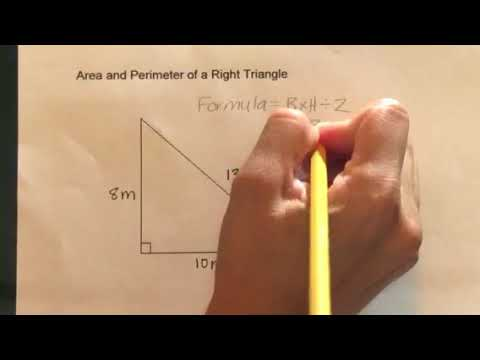 How to find the Area and Perimeter of a Right Triangle