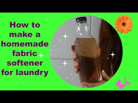 Homemade fabric softener for laundry. Organic, detergent enhancer, anti-scaling, and easy to do.