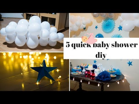5 diy baby shower or baby boy birthday decor| step by step tutorial|