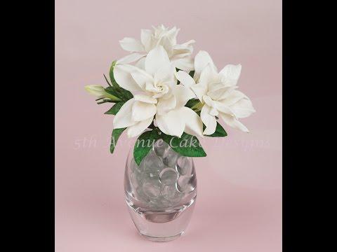 How to Create a Flower Paste Gardenia Spray