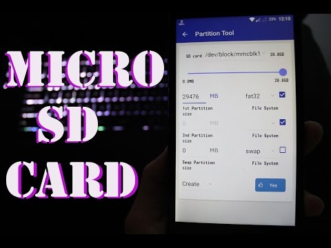 How to Partition SD card in Android (For App2SD & Link2SD)