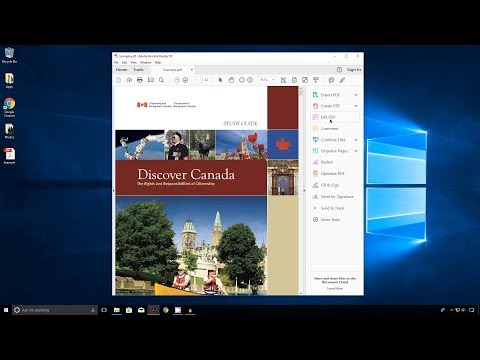 How to Hide the Tools Pane in Adobe Reader DC