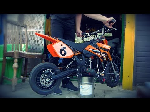 ITS NEARLY FINISHED! Electric Drill Powered Dirt Bike Build [Part 3]