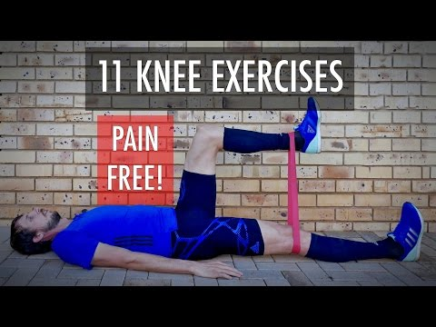 11 Knee rehab exercises for fix knee pain, strengthening after knee injury. Knee workout - Part 1