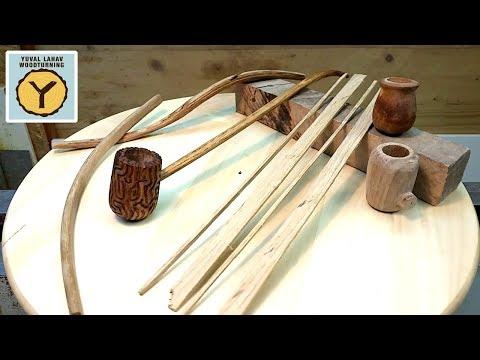 Woodturning Walnut and Oak Wizard Pipe
