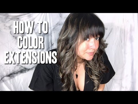 How to Color Extensions Darker || The Savvy Beauty
