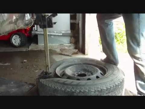 Completely Removing Tire Off Rim In 3.5 Minutes