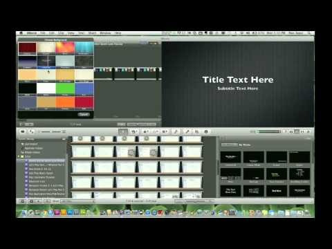 iMovie Tutorial - How to Make and Edit your First Movie in iMovie 2011