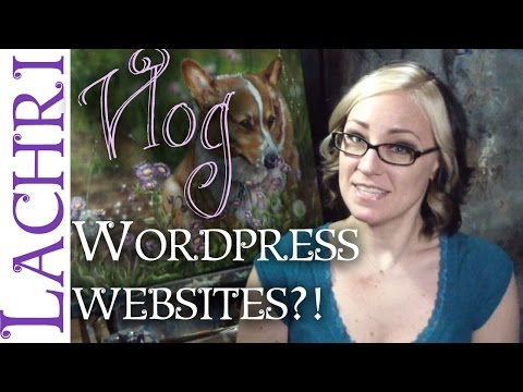 My experience using wordpress to build my art website w/ Lachri