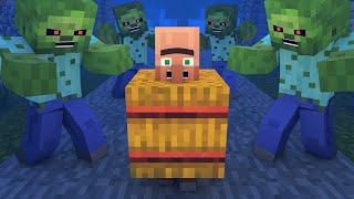 Zombie vs Villager Life 3 - Alien Being Minecraft Animation