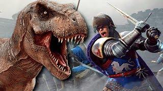 T-Rex vs 1000 Knights - Ultimate Battle Sim