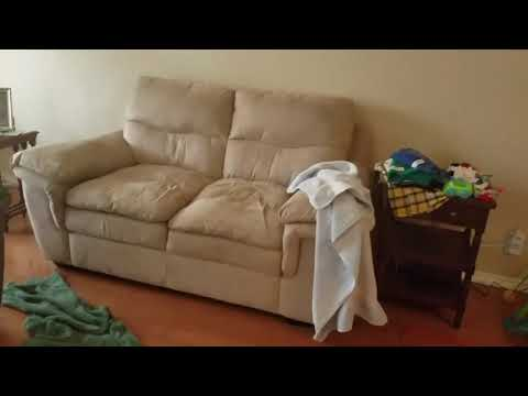 Microfiber couch upholstery cleaning.