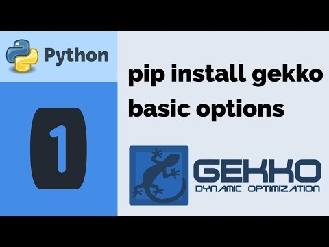 Install Python GEKKO and Change Options