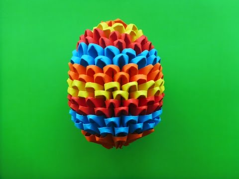 DIY Origami Osterei 3D Geschenk zu Ostern Anleitung, EASTER EGG EASY TUTORIAL GIFT IDEAS