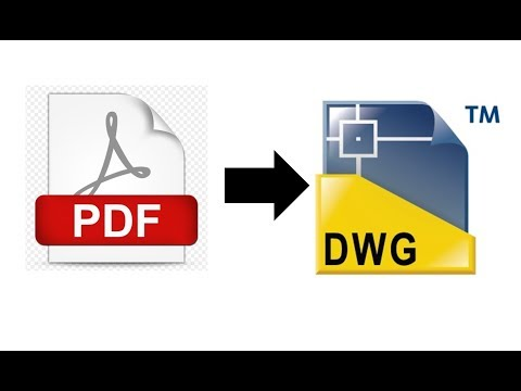 how to convert pdf to dwg online then correct the scale