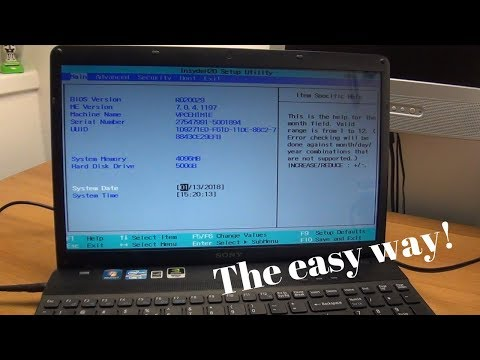 How to enter the BIOS on most Sony Vaio laptops - The easy way!
