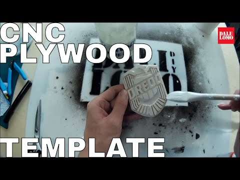 DIY Dredd Badge - Plywood Prop Using X-Carve