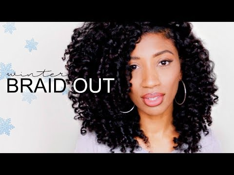 HEATLESS WINTER BRAID OUT on Stretched Hair for Naturals