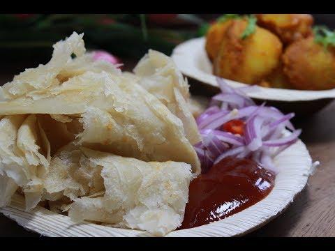 দোকানের মতো পেটাই পরোটা তৈরী করুন||Cheapest Kolkata's Street Food Petai Paratha||Petai Porota