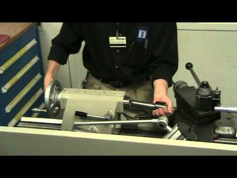 Close up video on How To Use a Lathe Tailstock