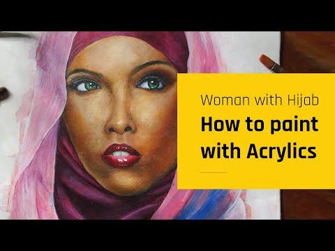 How i paint dark SKIN TONE || ACRYLIC PAINTING TUTORIAL || narrated step by step