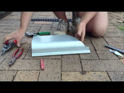 How to cut External Quad gutter corner on Quad 150 part 2