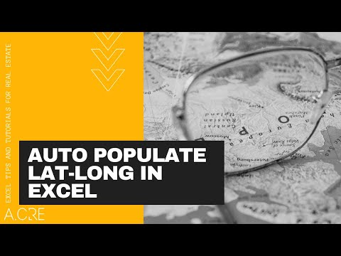 Auto Populate Latitude and Longitude Function in Excel (OLD VERSION)